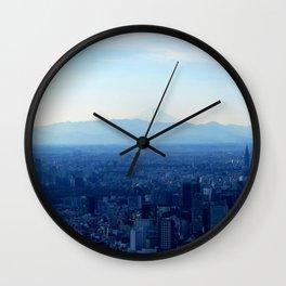 Fuji in the Distance Wall Clock