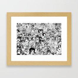 Japaness collage image Framed Art Print