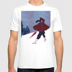 walking on snow Mens Fitted Tee MEDIUM White