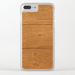 The Cabin Vintage Wood Grain Design Clear iPhone Case