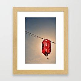 Backlit Chinese Lantern Framed Art Print