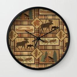 Moose Cabin Wall Clock