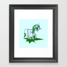 Baby Unicorn Love Framed Art Print