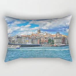 Galata Tower in İstanbul Rectangular Pillow
