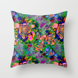 Abstract cheerful canvas. Throw Pillow