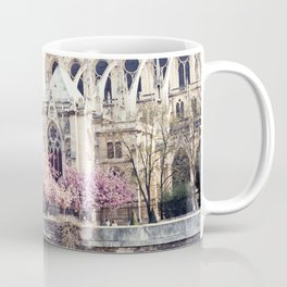 Cherry blossoms in Paris, Notre Dame Viwe Coffee Mug
