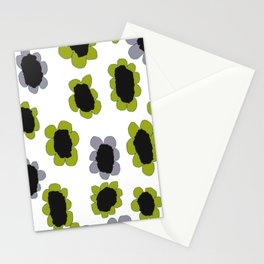 Daisies - Avocado and Slate Stationery Cards