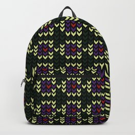 Edgy Pattern Backpack