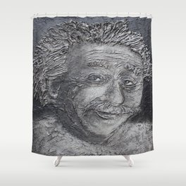Wilder Einstein Shower Curtain
