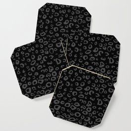 Black and Gray Leopard Coaster