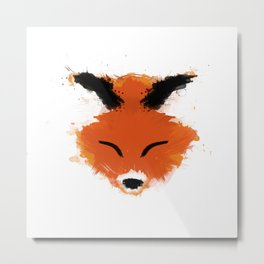 Fox Splatter Metal Print
