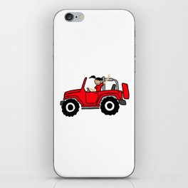 Jeep Wave Girl - Side View - Red iPhone Skin