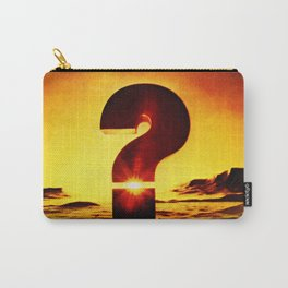 Vintage 1970's Question Mark With Sunset Carry-All Pouch