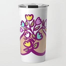 Floral Bosom Travel Mug