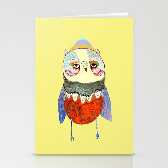 Owl Chick Stationery Cards