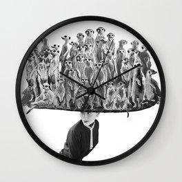 Her Meercat Hat  Wall Clock