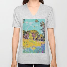 John Peter Russell - A clearing in the forest - Digital Remastered Edition Unisex V-Neck