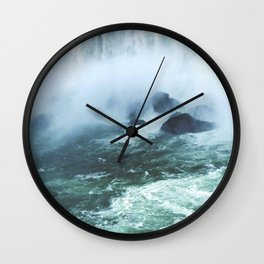 From below where all the water falls, Niagara 03 Wall Clock