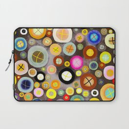 The incident - Circles pale vintage cross Laptop Sleeve