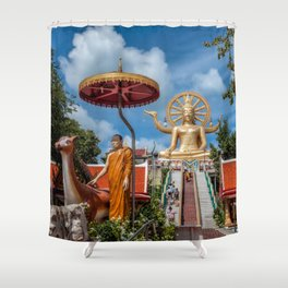 Big Buddha Temple Shower Curtain
