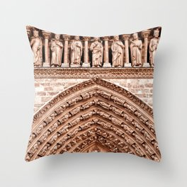 Notre Dame Mural Throw Pillow