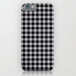 Grey Harbour Mist Gingham Check 2018 London Fashion Trends iPhone Case