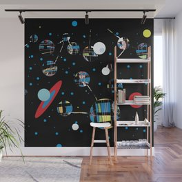 blue stars, black holes, outer space Wall Mural