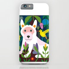 White Dog in Garden iPhone 6s Slim Case