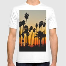 Palms to the Waning Day Mens Fitted Tee MEDIUM White