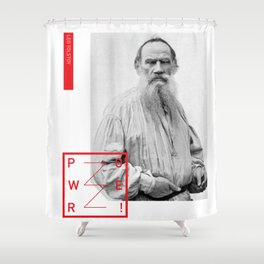 Leo Tolstoy - POWER Shower Curtain