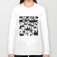 animal crew Long Sleeve T-shirts featuring Crew by Panda Cool