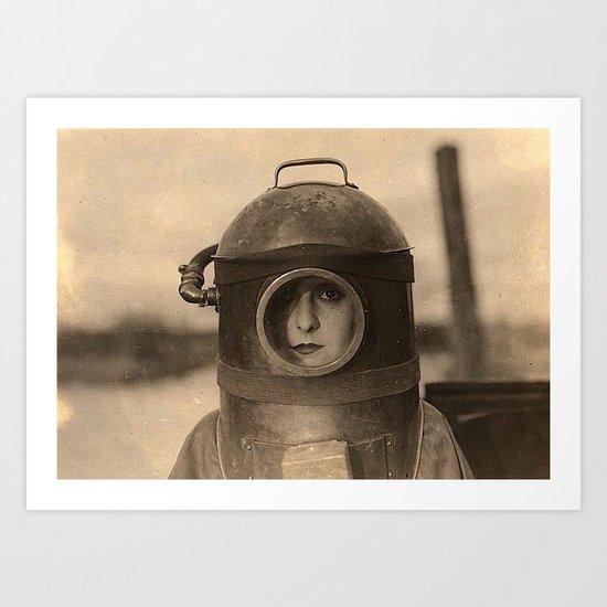 Scaphandre vintage photo Art Print