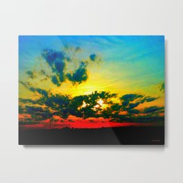 Curdled Clouds Metal Print