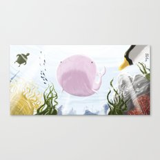 Chloé. The biker whale. Canvas Print