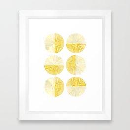 Labyrinth - Honey Framed Art Print
