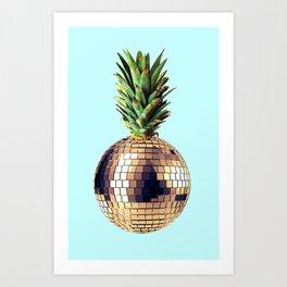 Ananas party (pineapple) blue version Art Print