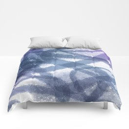Blue Purple Watercolor Circles Comforters