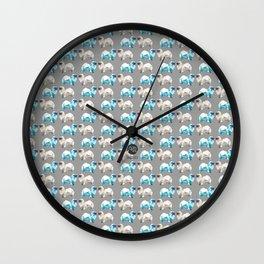 Polygon Tibetan Spaniel Elegant Taupe Pattern Wall Clock