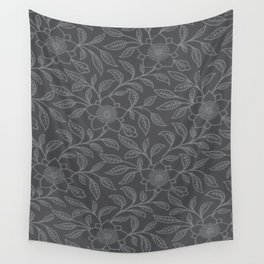 Sharkskin Lace Floral Wall Tapestry