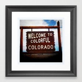 Colorful, Colorado Framed Art Print