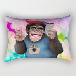 Selfi monkey iPhone 4 4s 5 5c 6 7, pillow case, mugs and tshirt Rectangular Pillow
