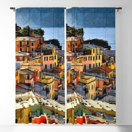 Cinque Terre Vernazza Village Mediterranean Coast, Italy 2 Blackout Curtain