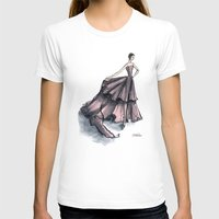 givenchy T-shirts featuring Audrey Hepburn in Pink dress vintage fashion by Notsniw