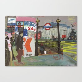 London #2. Piccadilly Circus Canvas Print