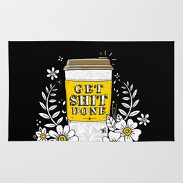 Drink Coffee, Get Shit Done Rug