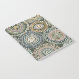Boho Patchwork-Mineral Colors Notebook