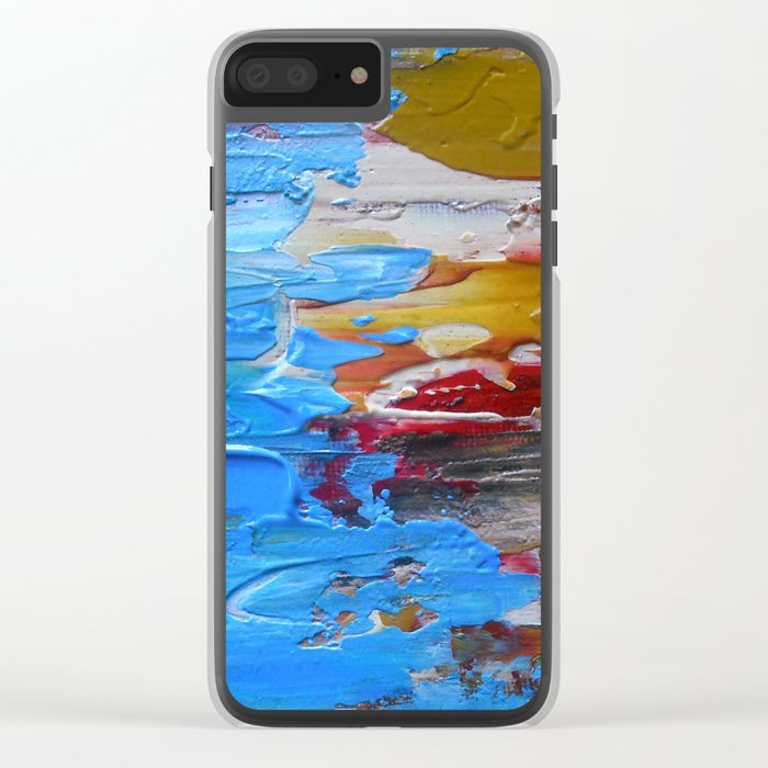 Beach Tide Acrylics On Stretched Canvas Clear iPhone Case