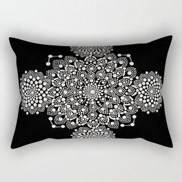 Atoms And Lace Rectangular Pillow