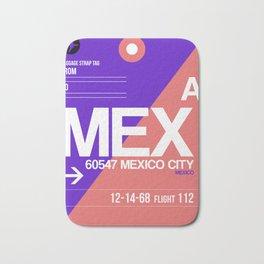 MEX Mexico City Luggage Tag 1 Bath Mat