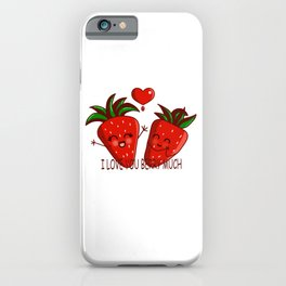 I LOVE YOU BERRY MUCH iPhone Case